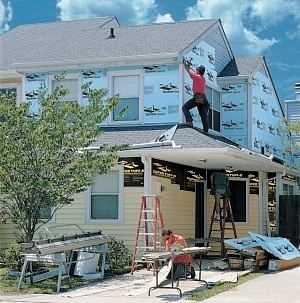 When contracted to do a vinyl window job, Times Siding installs the best insulation.